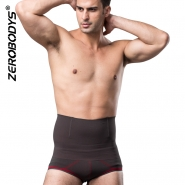ZEROBODYS Comfortable Bamboo Charcoal Bicolor Compression High Waist Briefs