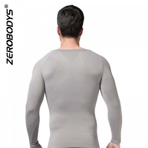 ZEROBODYS Comfortable Mens Body Shaper Long Sleeve Undershirt