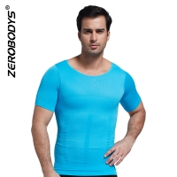 ZEROBODYS Comfortable Seamless Firming Panels 140D Short Sleeve Undershirt