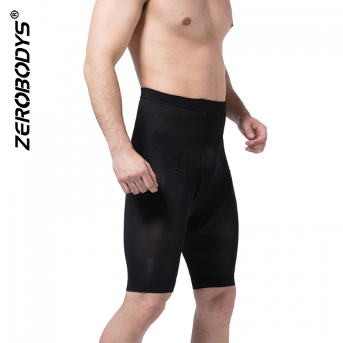 ZEROBODYS Incredible Mens Body Shaper High Waist Hip Up Long Trunks