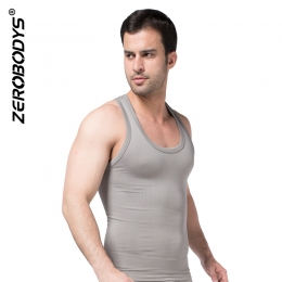 ZEROBODYS Comfortable Mens Body Shaper Quick Dry I-Shaped Vest