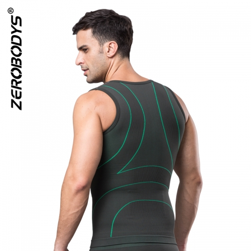 ZEROBODYS Comfortable Bamboo Charcoal Bicolor Compression Vest