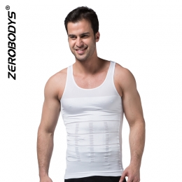 ZEROBODYS Incredible Mens Body Shaper Firming Panels 140D Vest I