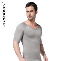 ZEROBODYS Comfortable Mens Body Shaper Short Sleeve Undershirt