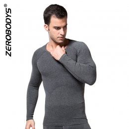 ZEROBODYS Comfortable Mens Body Shaper HEATMAX Long Sleeve Undershirt